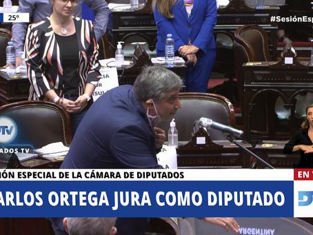 Carlos Ortega juró como diputado