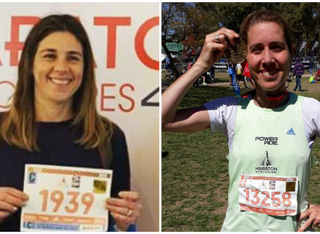 Running: Dos atletas del C.C.C. corrieron la Maratón Internacional de Buenos Aires