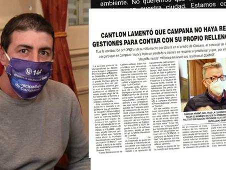 Amaya cuestionó las contradicciones de Cantlon