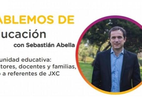 ''Hablemos de educación con Sebastián Abella'', esta tarde, por Zoom
