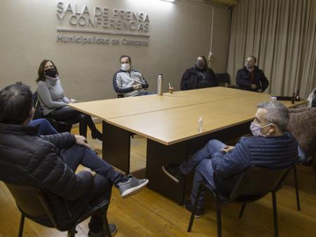 Abella detalló a los concejales de Juntos Por El Cambio como será la obra de la nueva rotonda