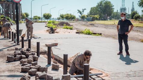 Se realizan los últimos trabajos para habilitar la calle de la nueva Costanera