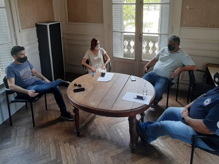 Ortega junto a concejales del Frente De Todos y un importante proyecto para el empleo local