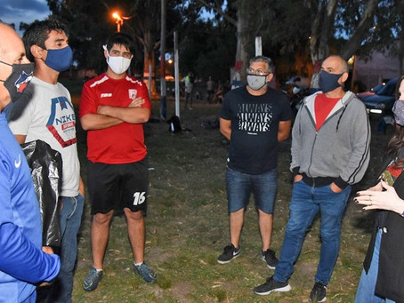 Alonso visitó el Norte Fútbol Club