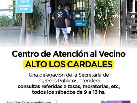 Podrán realizarse consultas sobre Ingresos Públicos en Alto Los Cardales