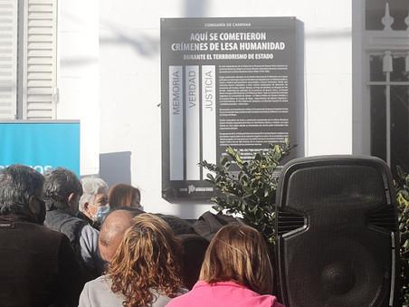 Señalizan como Sitio de Memoria a la Comisaría 1ª de Campana