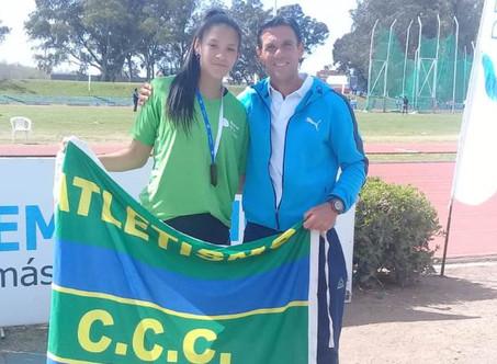 Malena Rodríguez, medalla de bronce en la final nacional de los Juegos Evita