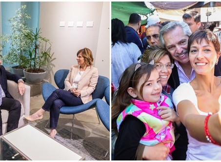 Alberto Fernández estuvo con Florencia Saintout y con Mayra Mendoza