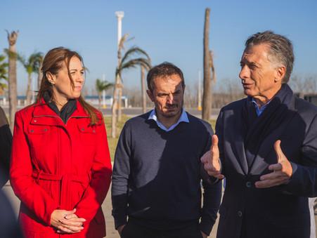 En medio de un importante operativo de seguridad, Macri y Vidal visitaron Campana