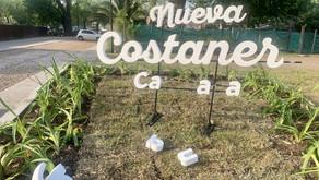 Vandalizan uno de los carteles de acceso a la nueva Costanera