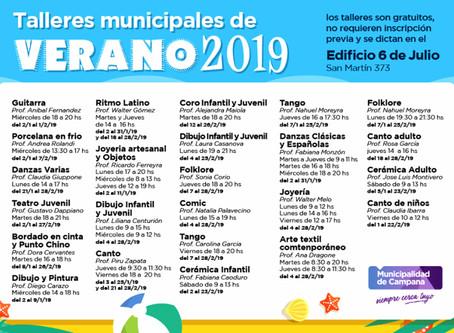 En enero continúan los talleres culturales del Municipio