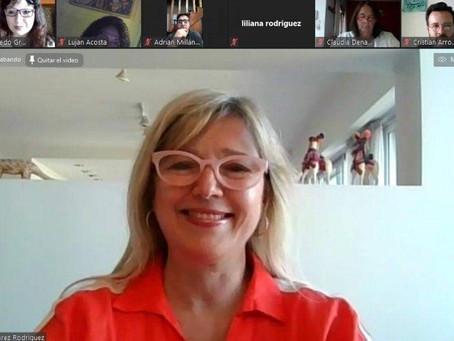 Carla Navazzotti participó de un encuentro junto a Agustín Rossi y Cristina Álvarez Rodríguez