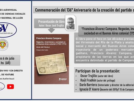 La UNLu conmemora el aniversario de Campana con la presentación de un libro de Oscar Trujillo
