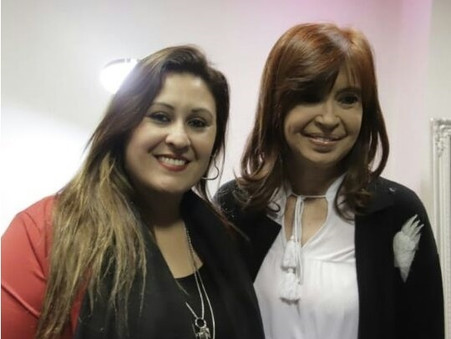 Georgina López participó junto a Cristina Fernández de Kirchner de un acto del sindicato bancario