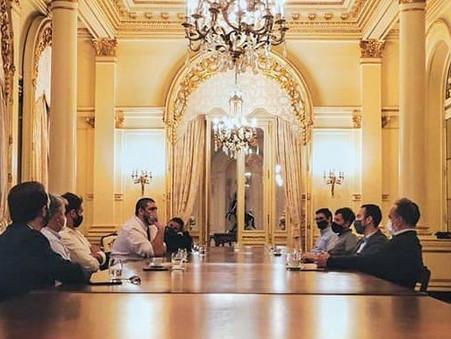 La Cámara de Jóvenes Empresarios se reunió con Nicolas Ritacco y Alejo Sarna en la casa Rosada
