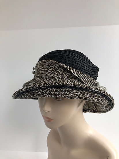 Molly Bloom (black/black tweed single tier)