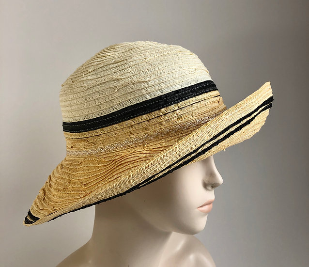 Myrna  (all wide paper braid, ivory/butter)