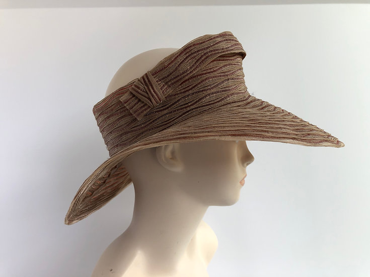 Crownless  (taupe with strip across)