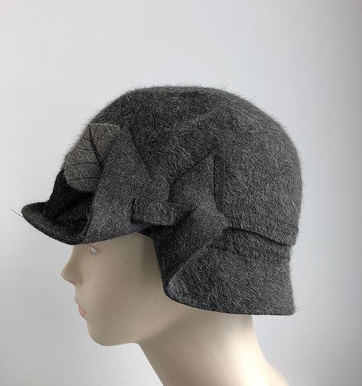 Pieced Spy Brim - fur felt, grey