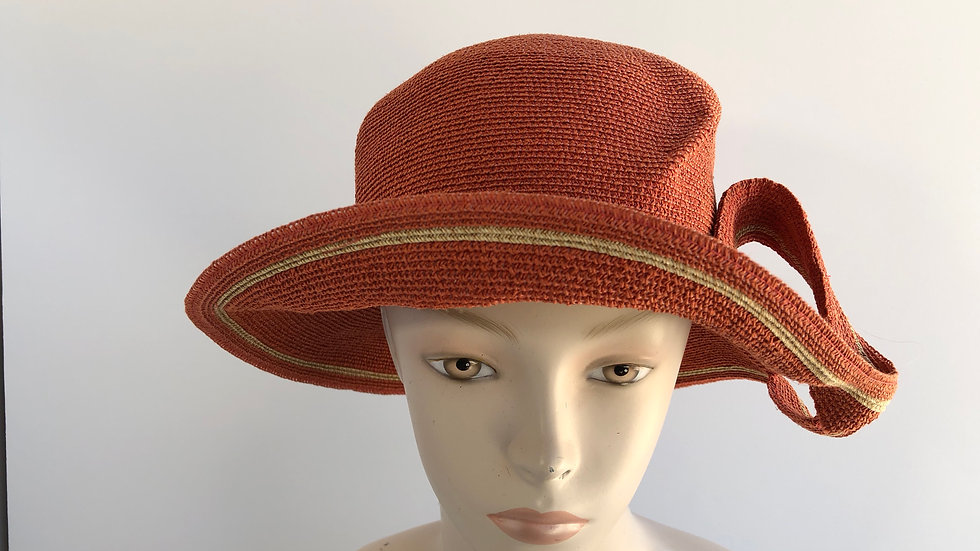Lily Bart (brick orange w/ wheat striped and twist)