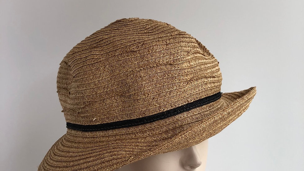Fedora, sort of (wheat folded paper)