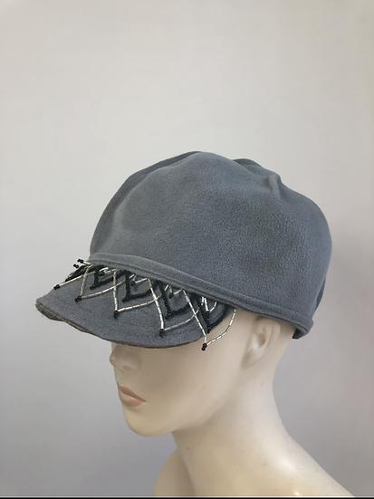 Jordan Baker cap (grey felt, fringe)