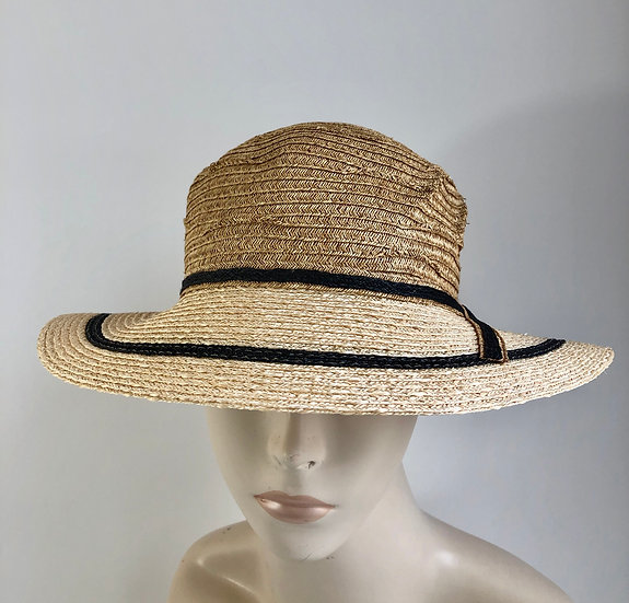 Myrna  (wheat with natural/black brim)