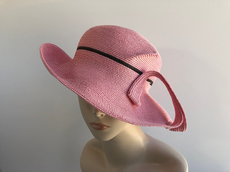Lily Bart  (pink with black stripe & twist)