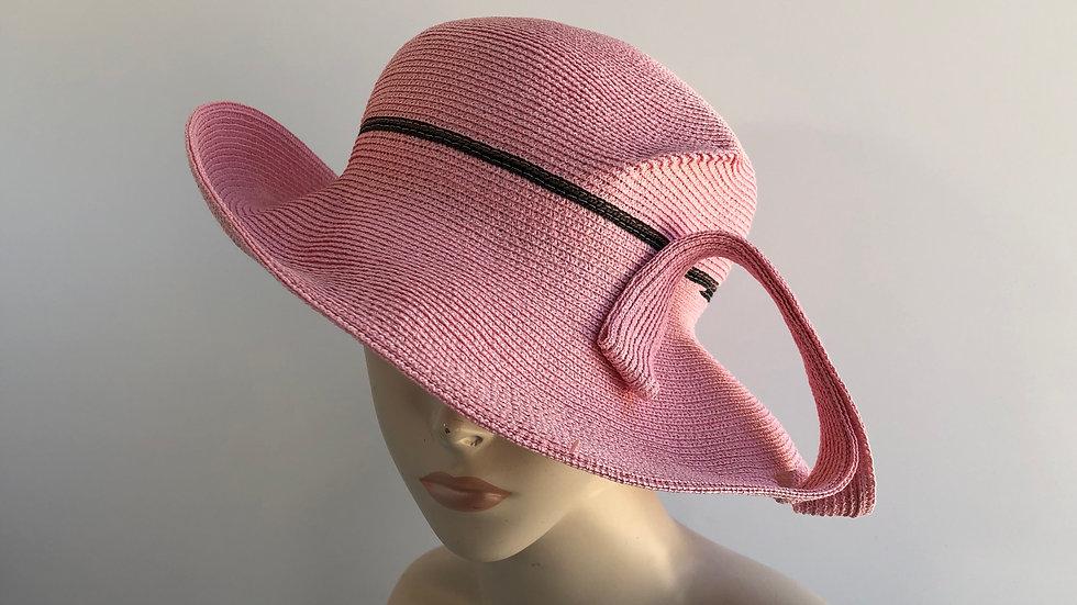 Lily Bart  (pink with black stripe & twist)
