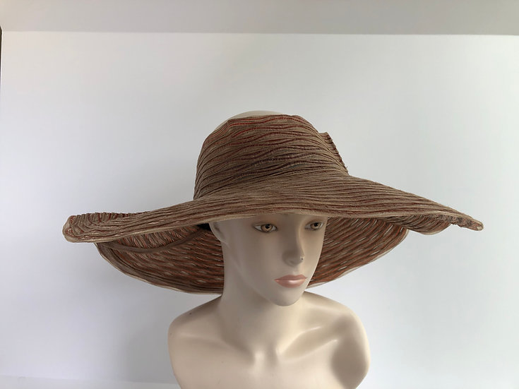 Crownless  (taupe wide w/ pleats)