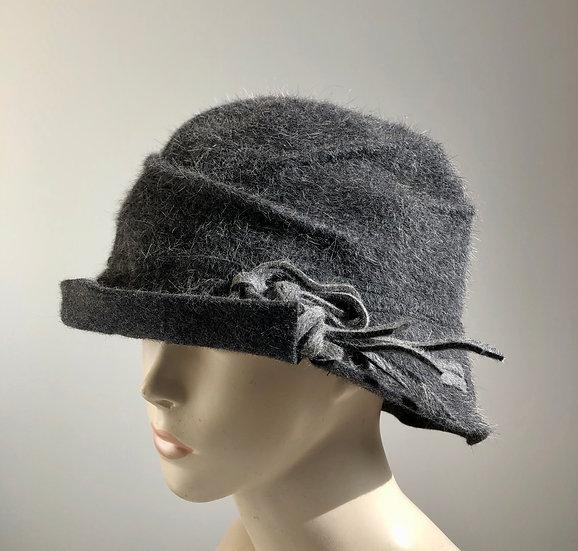Fur Felt  - light grey woven brim