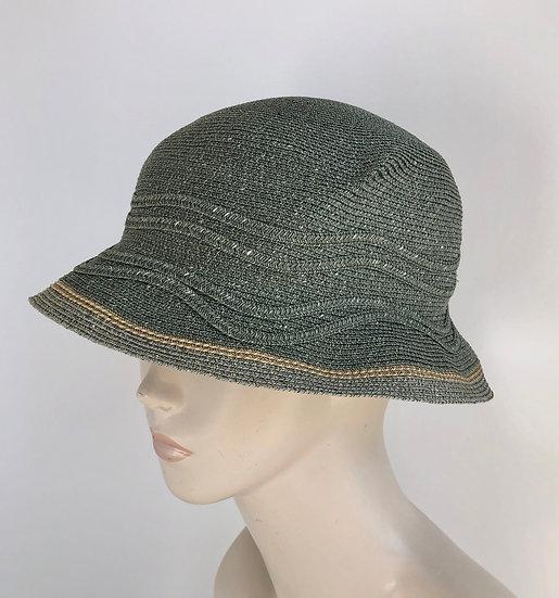 Daisy B  (olive w/waves & gray/tan edging)