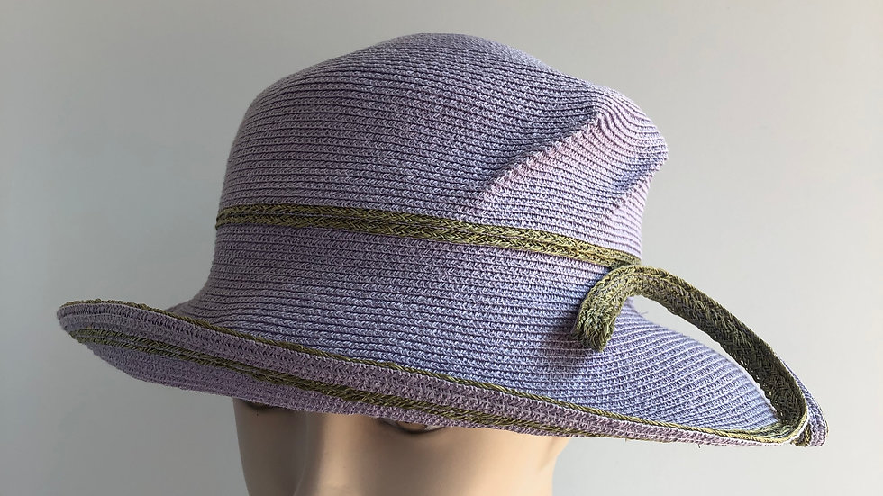 Lily Bart (lavender with olive hemp)