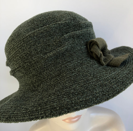 Pinched Crown (solid chenille olive)