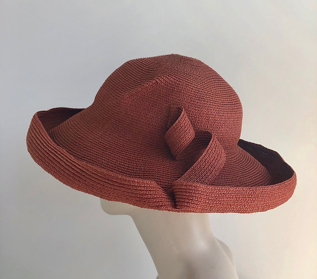 Lily Bart  (brick, with curls and breton brim)