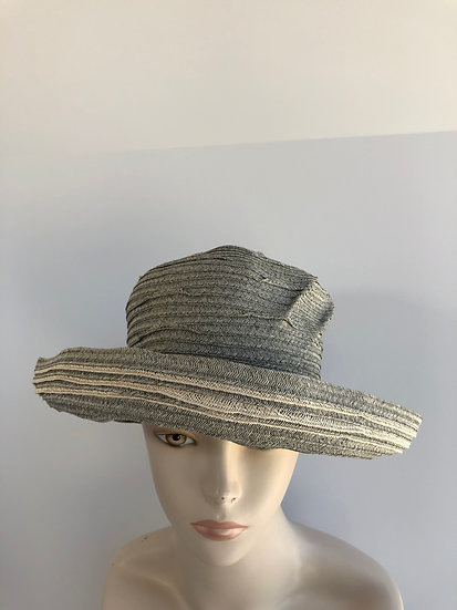 Elinor  (grey with ivory striped edge)