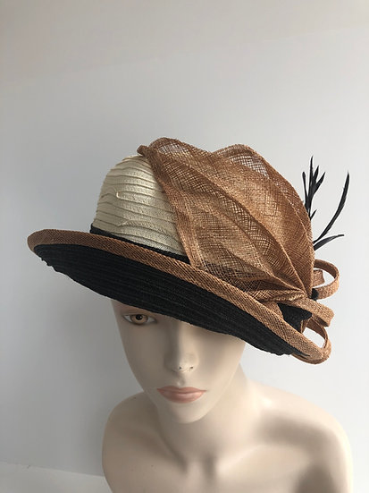 Lena (copper leaf with black/ivory)