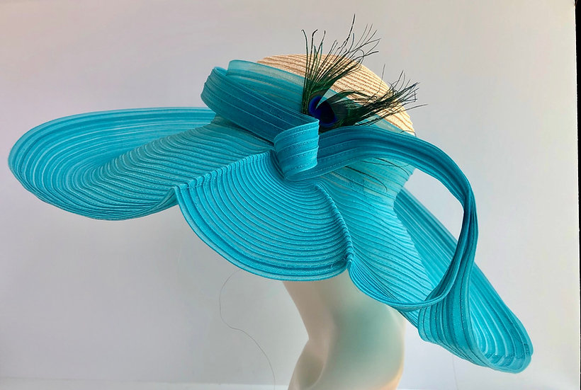 Social Distancer Ursula (turquoise with peacock)