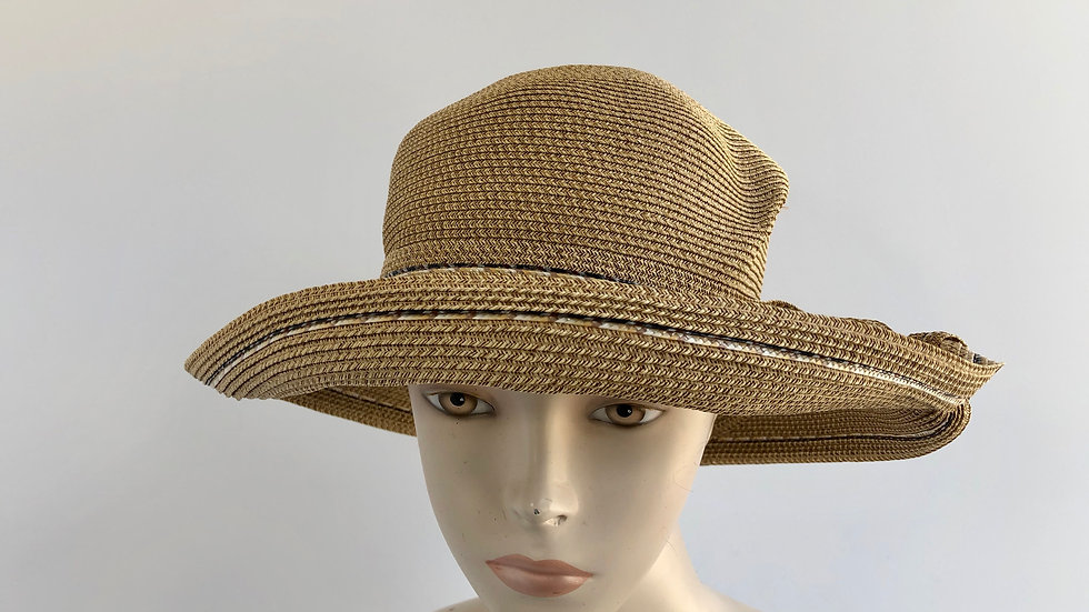 Lily Bart (wheat with gold/blk rio stripe, twist into band)