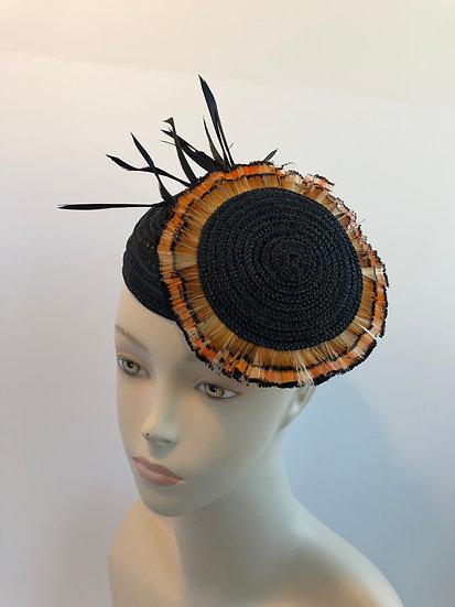 Flora  (black with golden pheasant)