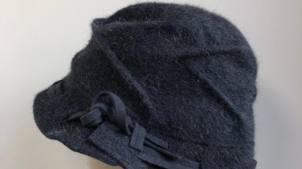 Daisy B fur felt (blue, woven brim)