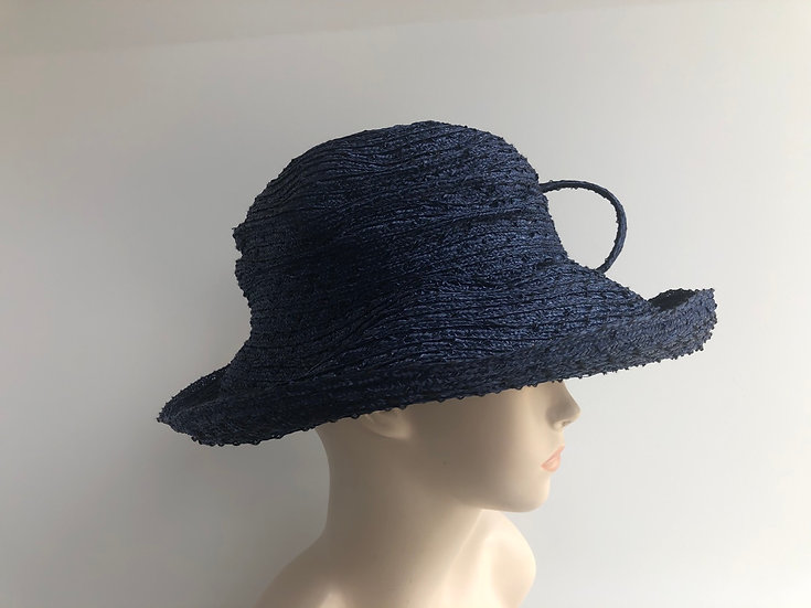 Clarissa (solid blue with loops)