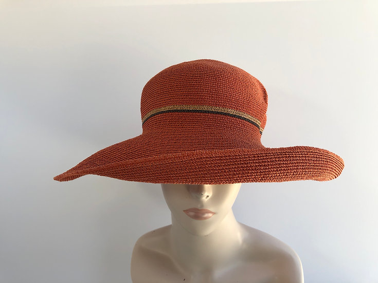 Georgiana (brick orange, wheat/blk accent)