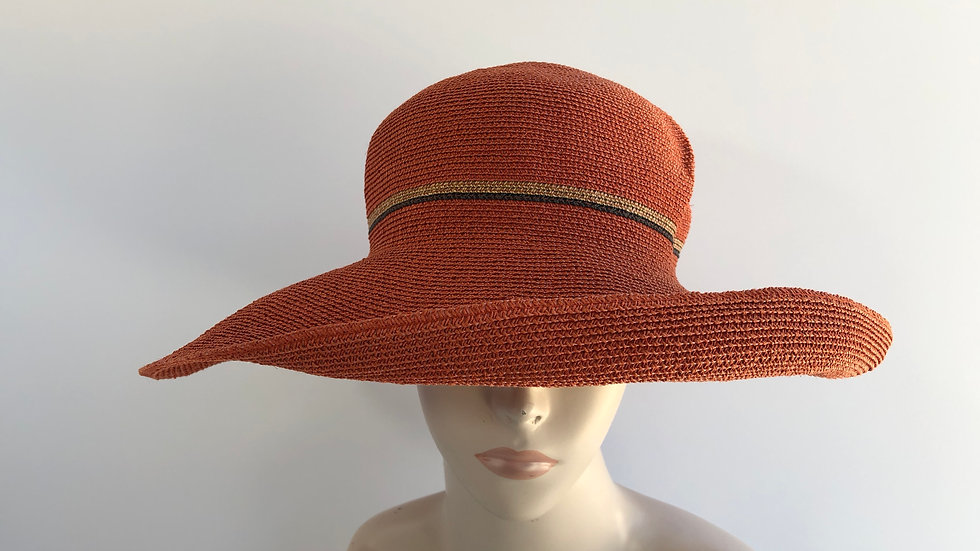 Georgiana (brick orange, wheat/blk accent)