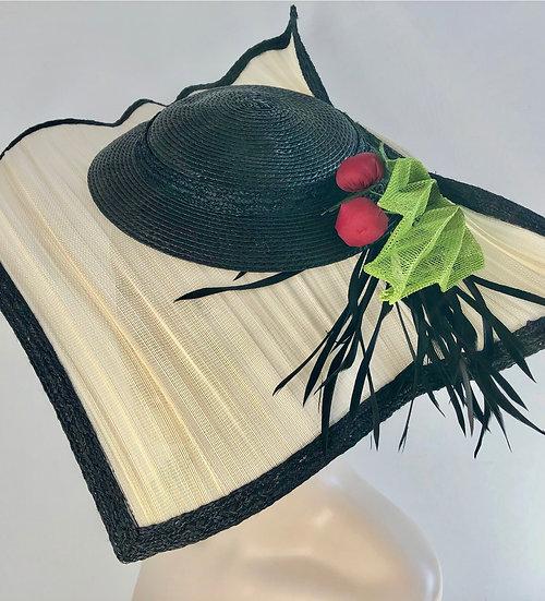 Ellen Olenska (cream/black with cherries/leaf)