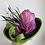Thumbnail: Lena - wide brim with magenta/lime