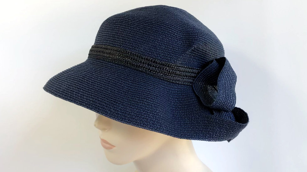 Lily Bart (navy with black band)
