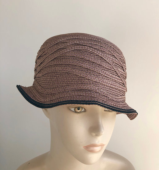 Daisy B  (earthy pink, bucket hat with surface waves)