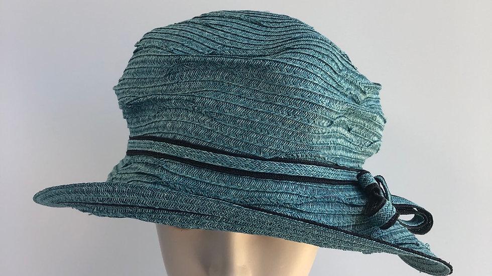 Daisy B (turquoise, black bow band)