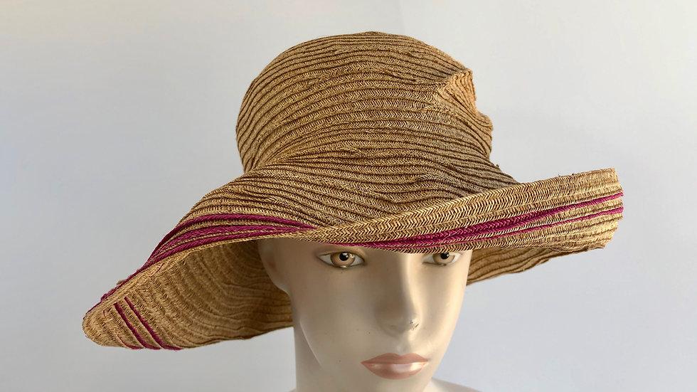 Elinor (wheat with magenta, flex brim)